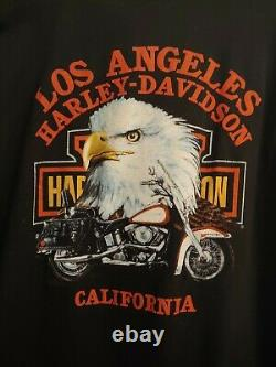 1989 3D Emblem Harley Davidson Ridin' Hogs Pickin' Up Chicks Los Angeles Size L