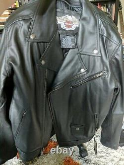 2XL Harley Davidson Mens Designator NWT Skull Leather Jacket 97078-09VM XXL
