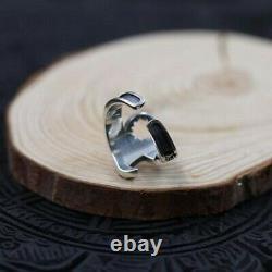 925 Solid Sterling Silver Spanner Wrap Harley Davidson Design Men's Biker Ring