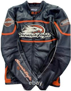 Brand New Harley Leather Motorcycle Screamin Eagle Jacket Black Logo XS To 5XL