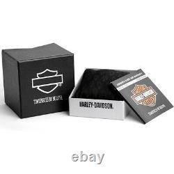 Bulova Harley Davidson Men's Black Chronograph Watch 78B138
