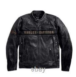 COWHIDE Men's HD Black Biker Harley Distress Motorcycle Leather Jacket