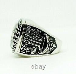 Custom Made Harley Davidson 925 solid silver Men's Biker Rider Gift ring