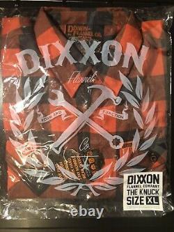 Dixxon Flannel Co XL The Knuck MIB New! X large! HD! Harley! Knucklehead