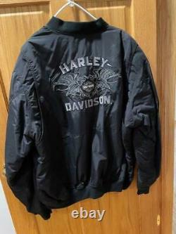 Genuine Harley Davidson Mens 3XL XXL Black Since 1903 Nylon Bomber Jacket