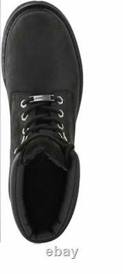 HARLEY-DAVIDSON FOOTWEAR Men's Badlands Black Leather Motorcycle Boots D91005