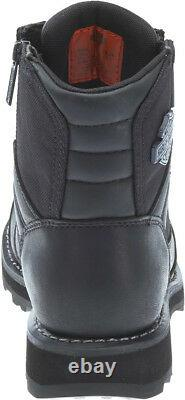 HARLEY-DAVIDSON FOOTWEAR Men's Bonham Black Leather Motorcycle Boots D93369