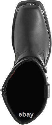 HARLEY-DAVIDSON FOOTWEAR Men's Charlesfort Black Leather Motorcycle Boots D96149