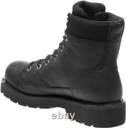 HARLEY-DAVIDSON FOOTWEAR Men's Chipman Black Leather Motorcycle Boots D93492