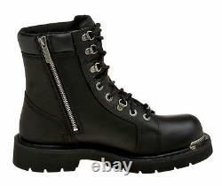 HARLEY-DAVIDSON FOOTWEAR Men's Diversion Black Leather Motorcycle Boots D94169