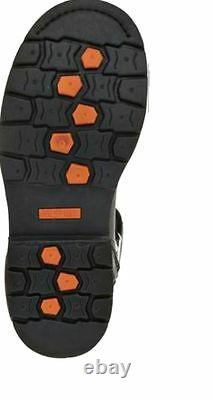 HARLEY-DAVIDSON FOOTWEAR Men's Electron Black Leather Motorcycle Boots D96017