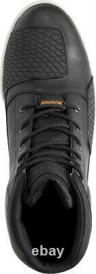 HARLEY-DAVIDSON FOOTWEAR Men's Holtman Black Leather Waterproof Boots D96187