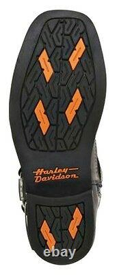 HARLEY-DAVIDSON FOOTWEAR Men's Landon Black Leather Motorcycle Boots D96047
