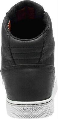 HARLEY-DAVIDSON FOOTWEAR Men's Midland Black Waterproof Riding Shoes D96165