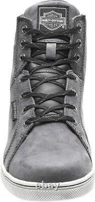 HARLEY-DAVIDSON FOOTWEAR Men's Midland Waterproof Gray Motorcycle Shoes D96166