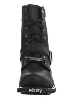 HARLEY-DAVIDSON FOOTWEAR Men's Ranger Tall Black Leather Motorcycle Boots D95264