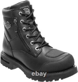 HARLEY-DAVIDSON FOOTWEAR Men's Renshaw Black Leather Motorcycle Boots D96136