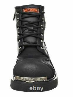 HARLEY-DAVIDSON FOOTWEAR Mens Stealth Leather Motorcycle Riding Boots D91642