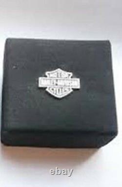 HARLEY DAVIDSON Men's. 925 SILVER LARGE B&S LOGO STERLING SILVER RING HDR0117