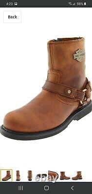 HARLEY DAVIDSON Men's Boot Scout Brown Leather Size 11.5M New