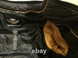 HARLEY DAVIDSON Mens Medium Black Winter Down Ski Riding Jacket Coat Vest NWOT