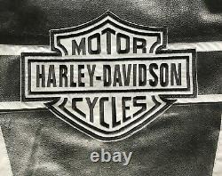 HARLEY-DAVIDSON Motorcycle CowHide LEATHER JACKET Victory Lane Biker Jacket