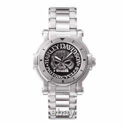 Harley Davidson 76A11 Men's Skull Wristwatch