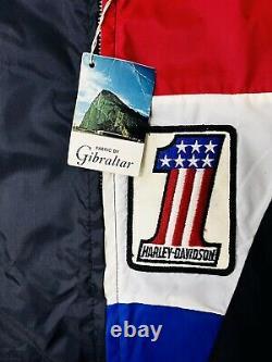 Harley Davidson AMF #1 Jacket and Beanie Cap Both NOS