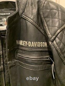 Harley Davidson Annex Distressed Goatskin Leather Jacket Men's XL HD#98098-16VM