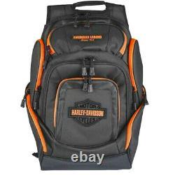 Harley-Davidson Black & Neon Orange Bar & Shield Deluxe Backpack BP2000S-ORG