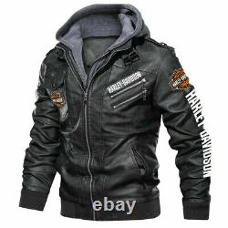 Harley-Davidson Faux Leather Jacket, So Cool-So Unique for Gift