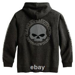 Harley-Davidson Herren Sweatshirt-Jacke Hoodie Kapuzen Motorradjacke Sweatjacke