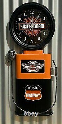 Harley Davidson Hume Hwy Huge Clock Metal Sign Perfect Bar Man Cave Hot Rod