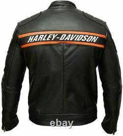 Harley Davidson Leather Jacket Bill Goldberg Jacket Motorcycle Biker Jacket Men