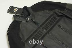Harley Davidson Men CHALLENGER Waterproof Black Leather Jacket XL 2XL 97063-11VM