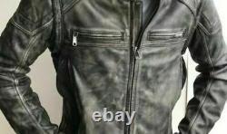 Harley Davidson Men Dauntless DIstress Leather Jacket Vest 2in1 2XLT 98133-17VM
