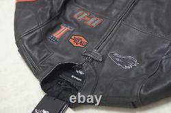 Harley Davidson Men Incinerator Leather Jacket Screamin Eagle XL Tall 98038-12VM
