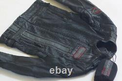 Harley Davidson Men Manta Coolcore Perforated Leather Jacket 97009-18VM 3XL 2XLT