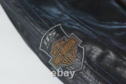Harley Davidson Men's 115th Anniversary Eagle B&S Leather Jacket XLT 98000-18VM