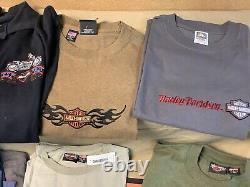 Harley-Davidson Men's 9 large shirts + sweatshirt NEW Lot