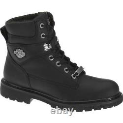 Harley-Davidson Men's AUSTWELL Black leather Boots D94194 size 12