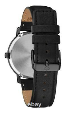 Harley-Davidson Men's American Flag Willie G Skull Watch with Leather Strap 78A122