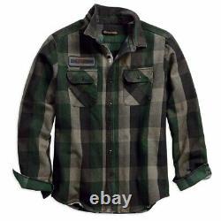 Harley Davidson Men's Appliqué Plaid Shirt 99096-18vm