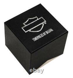 Harley-Davidson Men's Bar & Shield Brown Leather Stainless Steel Watch 76B178