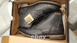 Harley-Davidson Men's Black Label DARROL Boots Black Leather Shoes size 9.5
