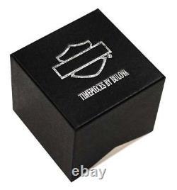 Harley-Davidson Men's Bulova V-Twin Wrist Watch 76A021
