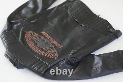 Harley Davidson Men's Burning Skull Black Riding Leather Jacket M 98062-13VM