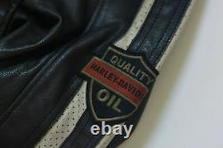 Harley Davidson Men's COMMAND Wing Perforated Leather Jacket M L 2XL 98007-18VM