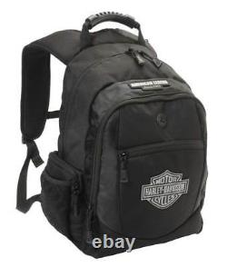 Harley-Davidson Men's Classic Bar & Sheild Backpack, Black BP1932S-BLACK