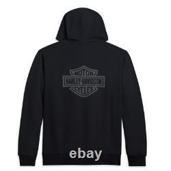 Harley Davidson Men's Classic Logo Zip Hoodie 96251-21VM